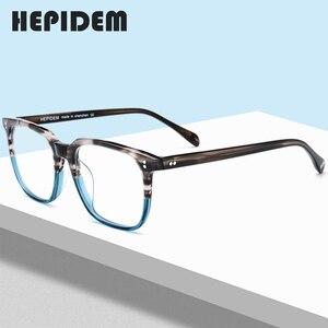 Acetate Glasses Frame Men Square Prescription Eyeglasses New Women Male Nerd Myopia Optical Clear Spectacles Eyewear FONEX