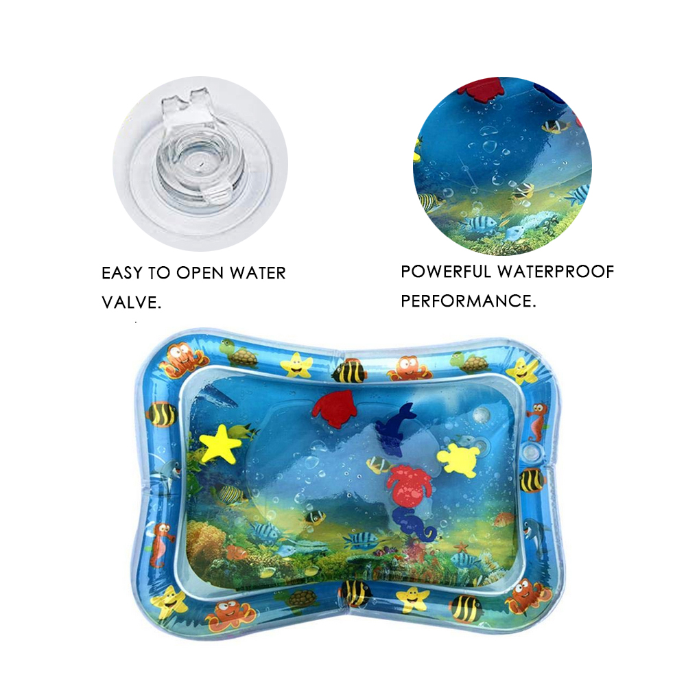 PVC Baby Kids Water Play Mat Inflatable Infant Tummy Time Playmat Toddler for Baby Fun Activity Play Center Baby Toddler Toys | Happy Baby Mama