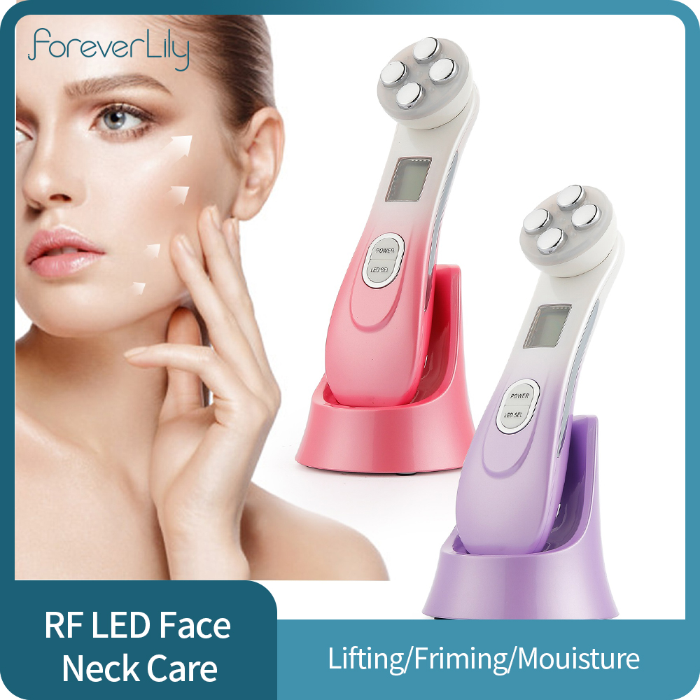 Face Skin EMS Mesotherapy Electroporation RF Radio Frequency Facial LED Photon Skin Care Device Face Lift Tighten Beauty Machine|Home Use Beauty Devices| - AliExpress