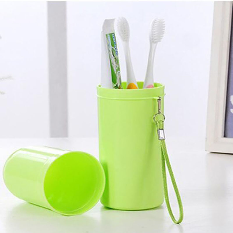 New Translucent Cup Candy Color Toothpaste Tooth Brush Wash Cup Bathroom Storage Accessories Portable Travel Set With Lid