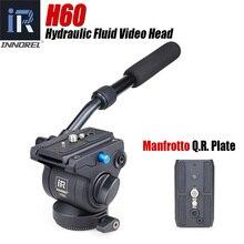 Innorel H60 油圧流体三脚ヘッドビデオパノラマカメラの三脚一脚スライダーとクイックリリースプレート