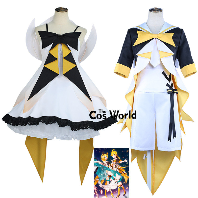 2019 <font><b>VOCALOID</b></font> HATSUNE MIKU WITH YOU Kagamine Len Kagamine <font><b>Rin</b></font> Dress Uniform Outfit Anime <font><b>Cosplay</b></font> Costumes image