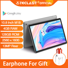 Android Tablets Teclast M18 10.8 Inch IPS Tablet 2560×1600 Resolution 4GB RAM 128GB ROM 13MP Rear 5MP Front 4G Network Phone Cal