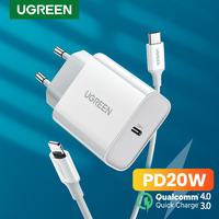 UGREEN PD20W USB del Caricatore per il iPhone 12 Pro 11X8 USB C Veloce del Caricatore Carica Rapida 4.0 3.0 per xiaomi Huawei Telefono PD Caricatore