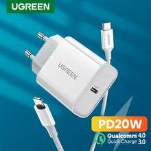 UGREEN PD20W chargeur USB pour iPhone 12 Pro 11X8 USB C chargeur rapide Charge rapide 4.0 3.0 pour Xiaomi Huawei téléphone PD chargeur