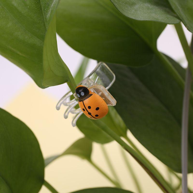 10 10 шт. в упаковке, милые зажимы в виде божьей коровки, орхидеи, Садовый цветок, Cymbidium, пластиковый зажим, опорные зажимы для опоры, стебли, стебли, лозы