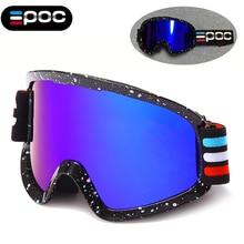 EPOC Men Women Double Layers Anti-fog Goggles Ski Glasses Mtb Snowmobile Snow Skiing UV400 Goggles Ski Eyewear