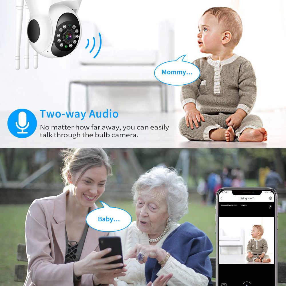 Hiseeu أمن الوطن 1080P 3MP واي فاي كاميرا IP الصوت سجل بطاقة الذاكرة SD P2P HD CCTV مراقبة كاميرا لا سلكية مراقبة الطفل