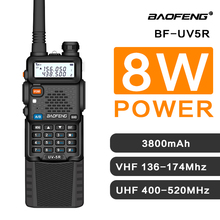 Baofeng UV 5R 3800 Walkie Talkie 5W Dual Band Ricetrasmettitore Radio CB Radio Comunicatore Radio Portatile Walkie Talkie UV 5R