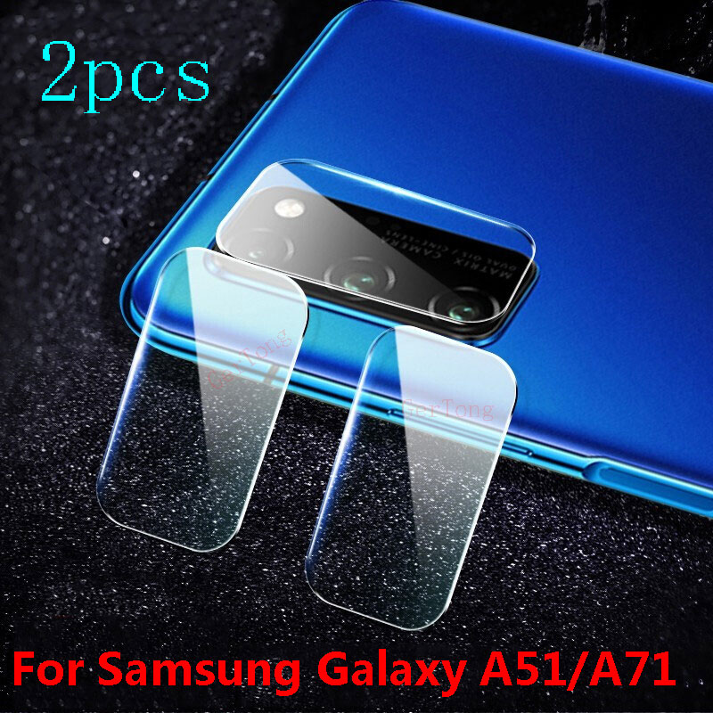 2PCS Back Camera Lens Protector For Samsung Galaxy A51 A71 Glass Camera Lens For Samsung A51 A 51 A71 A515F A715F Tempered Glass