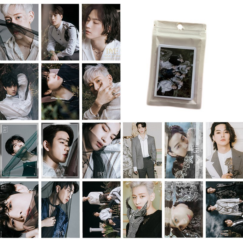 16pcs/set Kpop Got7 New Album Dye Photo Card Lomo Card Postcard For Fans Collection Mark JACKSON JB Wholesale New Arrivals