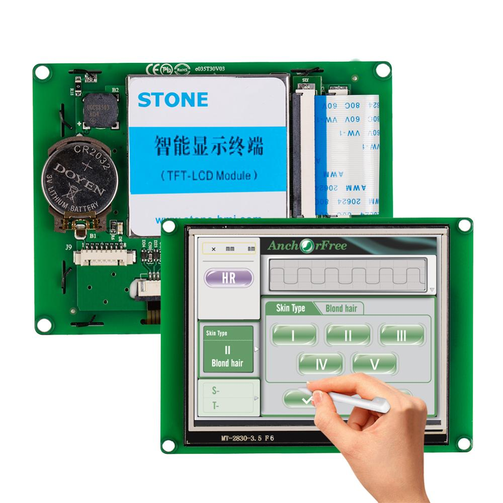 STONE 3.5 Inch HMI TFT-LCD Display Module With RS232/RS485/TTL  Interface+Controller Board For Industrial Use