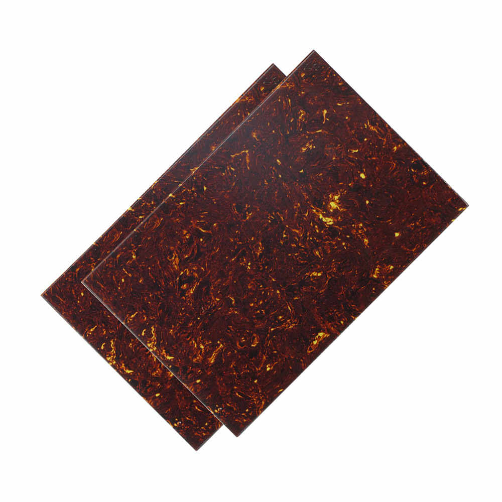 Electric Guitar Blank Pickguard Board Scratch Plate PVC DIY Customed Guitar Parts Multi-Ply Construction Brown Tortoise Shell