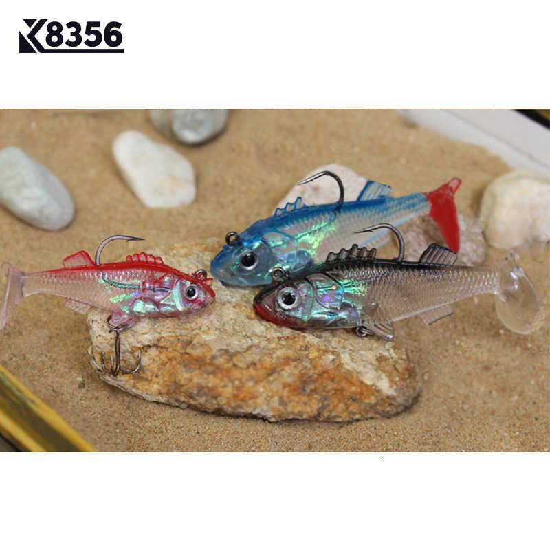K8356 3 Pz/lotto 8g 15g Esche Da Pesca Multicolore Morbido Esche Artificiali Esche Artificiali Esca Cornici E Articoli Da Esposizione di Piombo Giga Falso Richiamo di pesca in Mare attrezzatura da pesca Pesce Esca