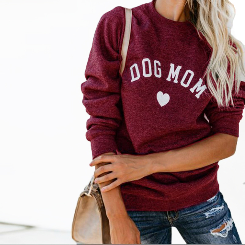 Dog Mom Sweater Women Hooded Women Velvet Autumn Winter Long Sleeve Women Sweater Sudadera Mujer Pull Femme Riverdale