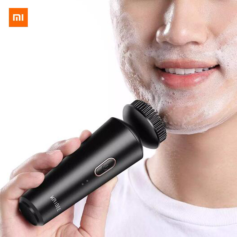 Xiaomi Ypupin Kribee Men's Clean Electric Cleansing Device Black Pure Spin Power Technology Deep Cleansing Hard Core Oil Control