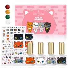 BORN PRETTY amp KunCat Joint Product 4 Pieces Nail Gel amp 2 Pieces Nail Sticker Set Easy to Match Nail Art Sock Off Varnish DIY Design cheap Approx 6ml Gel Polish AB48717 1 Bottle