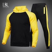 Ensemble deux pièces sweat à capuche et pantalon pour homme, survêtement, vêtements de sport, nouvelle collection 2021