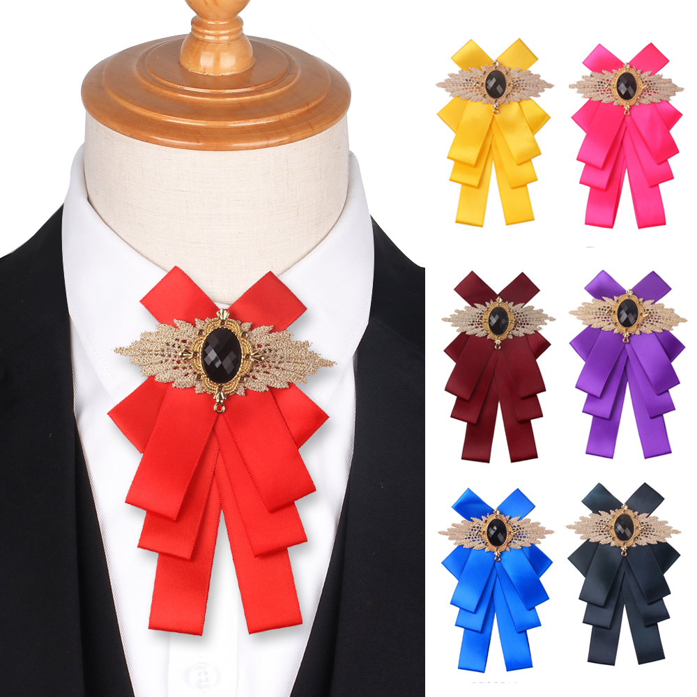 Red Bow Tie For Women Butterfly Lady's Bowtie Casual Solid Bow Ties For Wedding Party Tuxedo Bowties Cravat
