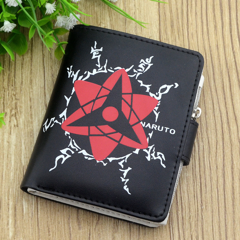 Naruto Anime Akatsuki Cloud Black Wallet