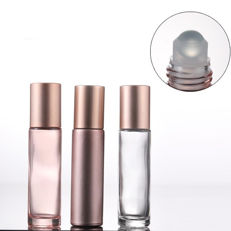 Pink Rose Golden Roller Bottle Essential Oil Bottle Lipgloss Tube Container Eye Gel Roller Bottle 20pcs/lot P265 image