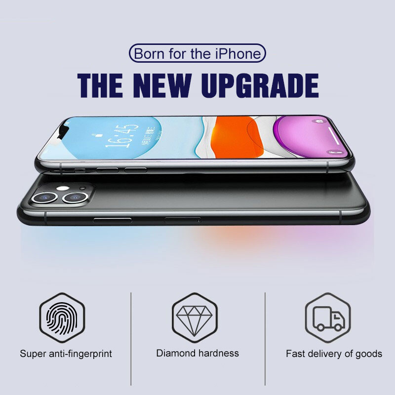 Image 2 - Protective Tempered Glass For iPhone 11 Pro Max Xs Max Xr X 7 8 6 6S Plus 11 Full Cover Screen Protector Glass on iPhone 11 Pro-in Phone Screen Protectors from Cellphones & Telecommunications