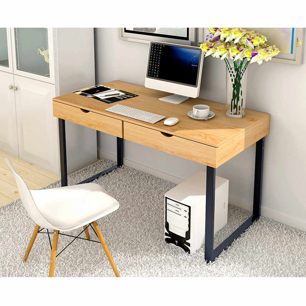 Computer Table Laptop Office Desk Study Table Simple Workstation With 2 Drawers Laptop Desks Aliexpress