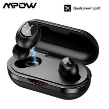 Fones de ouvido bluetooth mpow original ipx7, fones de ouvido, bluetooth, t5/m5 tws, à prova d água, sem fio, 36h de tempo de reprodução para ios e android smartphone com telefone inteligente,