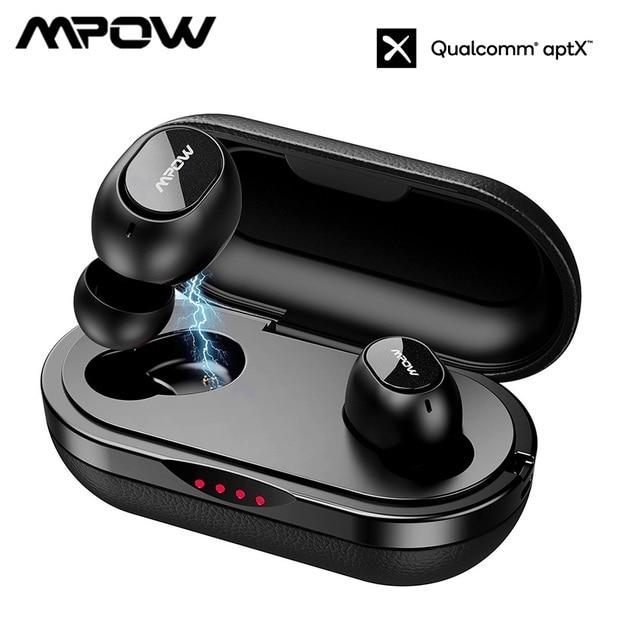 Mpow オリジナル IPX7 防水 T5/M5 tws bluetooth イヤホンワイヤレスイヤ 36h ios アンドロイドための時間を再生スマートフォン