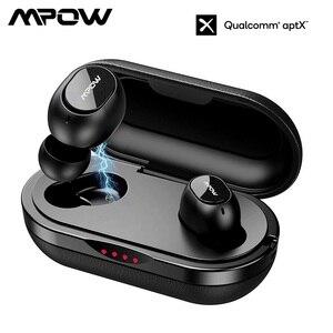 Image 1 - Mpow Originele IPX7 Waterdichte T5/M5 Tws Bluetooth Oortelefoon Draadloze Oordopjes Oortelefoon 36 H Speeltijd Voor Ios Android smart Telefoon