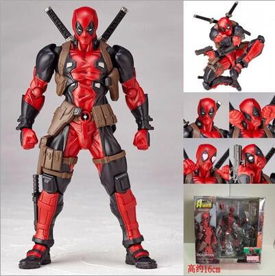 16cm Deadpool Joint Movement Action Figure PVC Collection Model Toys Brinquedos For Christmas Gift