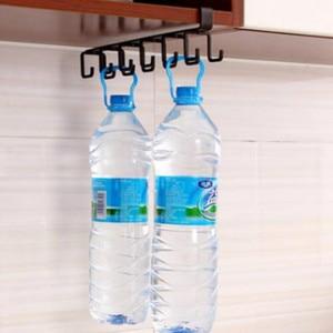 Image 5 - Home seamless kitchen storage rack nail free hanging wrought iron wardrobe hook organizer WY41102