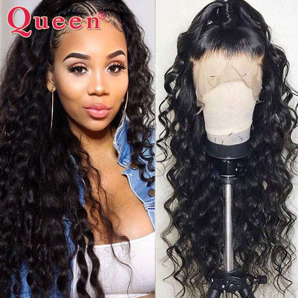13*4 Loose Deep Wave Lace Front Human Hair Wigs Pre Plucked With Baby Hair Brazilian Remy Lace Front Wigs 10-24 Inch Queen Hair