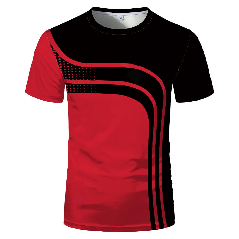 3D Digital Summer Hot Sale Fashion Short Sleeve Slim Comfortable Men's and Women's Sports T shirt