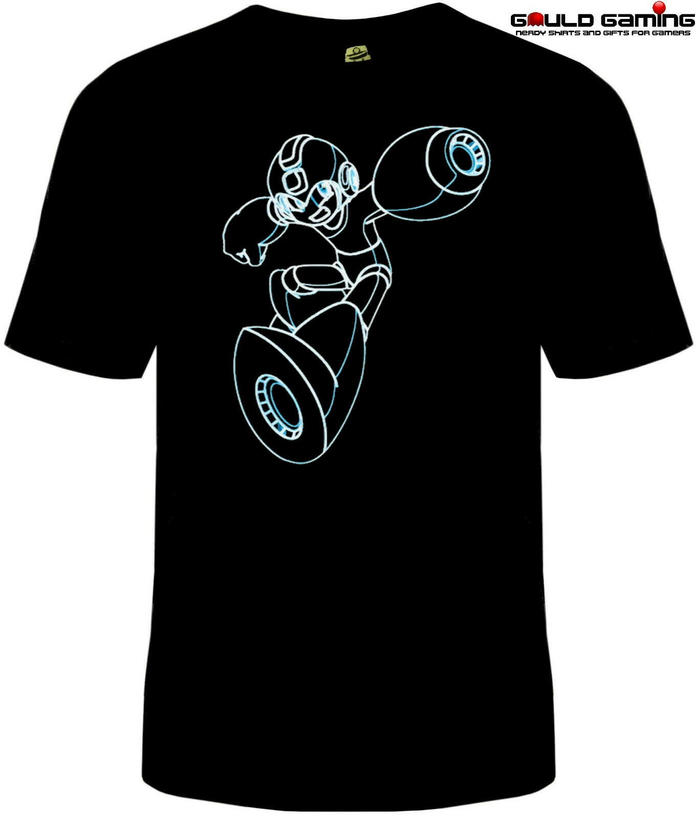 Mega Man Tron T Shirt Unisex Adult Funny Sizes NES Quickman Video Game Neon New image