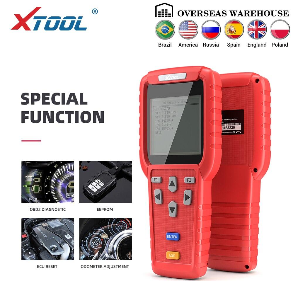 XTOOL X100 Pro OBD2 Programador Chave Auto/ajuste de Quilometragem Incluindo EEPROM com Leitor De Código de Atualização Gratuita