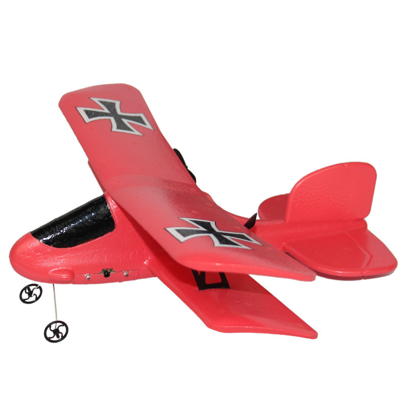 Fixed-Wing FX-808 Remote Control Glider Colorful Flashing Light Double Layer Fighter Plane Remote Control Aircraft Airplane Mode