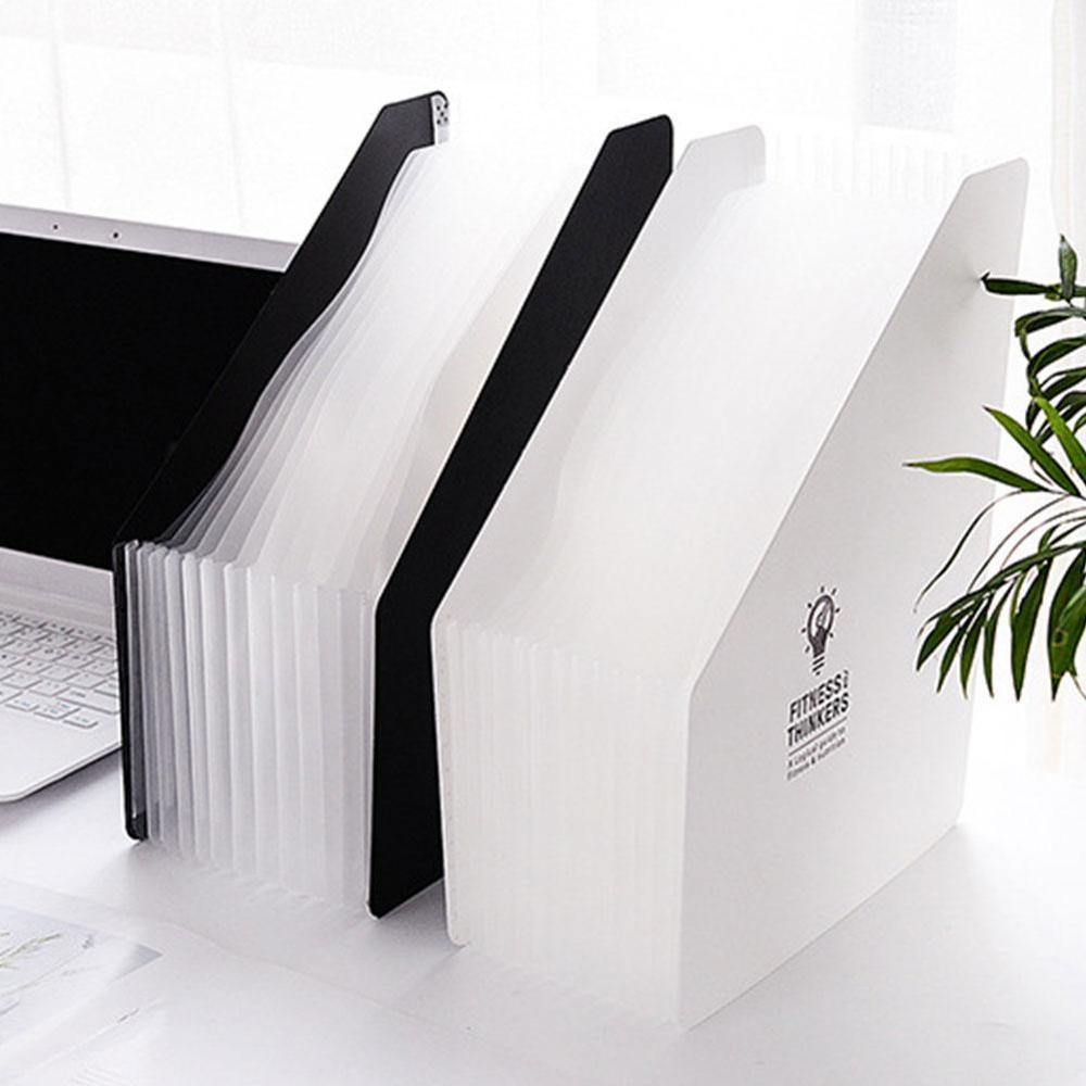 New A4 12 Pockets Expanding File Folder Organizer Portable Business File Document Holder Waterproof File Folder Office Supplies