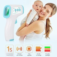 Fast Ship Non contact Forehead Temperature Gun Handheld Digital Portable Infrared body Thermometer Tools Hand held Temperature
