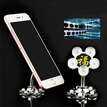 luxury fashion Sucker Stand Phone Holder 360 degree Rotatable Magic Suction Cup Mobile Car Bracket Smartphone Tablets Holder universal 360 degree rotatable car suction cup holder stand bracket for cellphone black