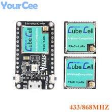 Cubecell asr6501 433/868mhz módulo placa de desenvolvimento Cortex-M0 sx1262 lorawan nó placa controle em para arduino