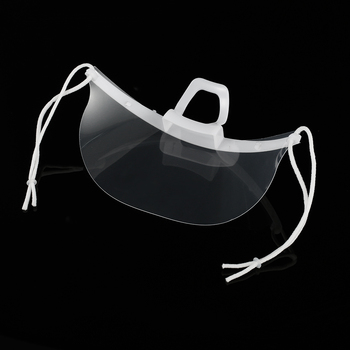 10pcs Mouth Nose Visor Antifog Shield Mask for Face Transparent Mouth Guard for Restaurant Food Supply - China, 2 - 10Pcs