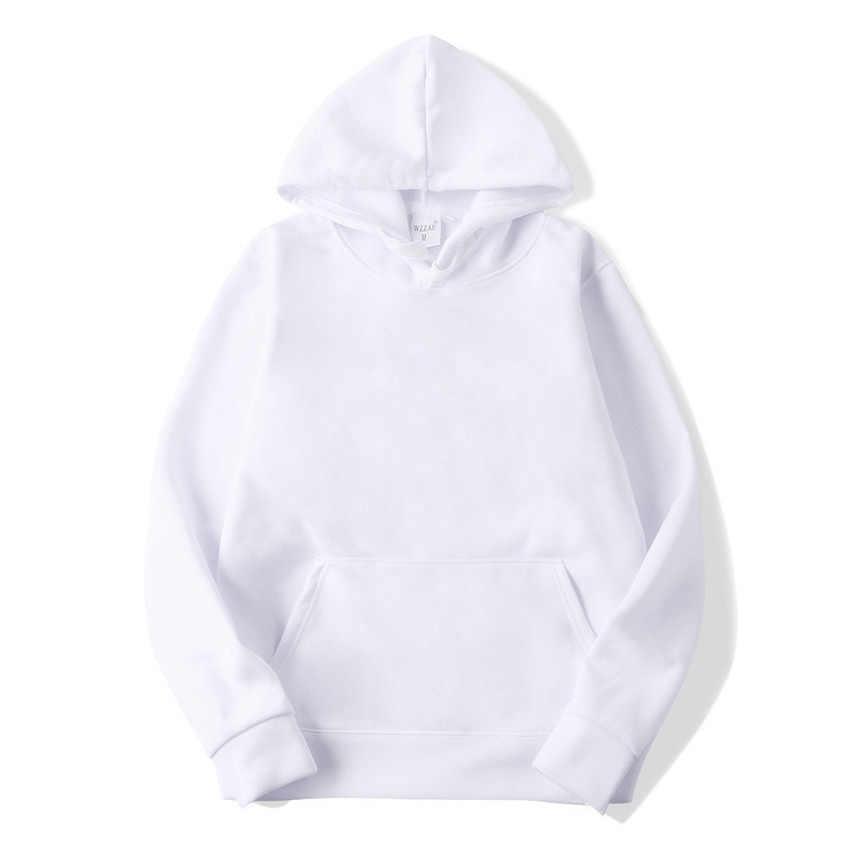 FOJAGANTO 패션 브랜드 남성 솔리드 까마귀 남성 캐주얼 와일드 후드 티 셔츠 남성 단순 슬림 후드 티 스웨터 탑스