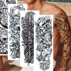 Waterproof Temporary Tattoo Sticker Full Arm Large Tatoo Stickers Flash Fake Tattoos For Men Women