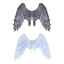 Halloween Decoration Non-Woven Fabric 3D Angel Wings Theme Party Cosplay Costume Accessories For Adults