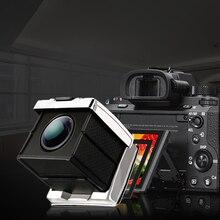 GGS altın çelik vizör SLR cep mercek Canon Nikon Sony için vizör kamera filmi güneşlik kare SLR göz maskesi
