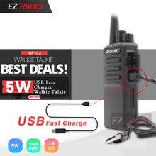 2019 baofeng quente BF-V9 baofeng c2 rádio usb carregador rápido walkie talkie 5w 1500mah uhf 400-470mhz rádio em dois sentidos BF-888 rádio cb