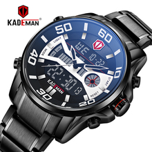 Casual Sports Men Watch 2019 NEW Luxury Full Steel Waterproof LED Digital Watch TOP Brand Dual Display Automatic Date Wristwatch все цены