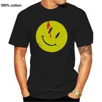 Camiseta con botones ensanchados para hombres, camisa de héroes de Watchmen, cómico, TV, sonrisa, película