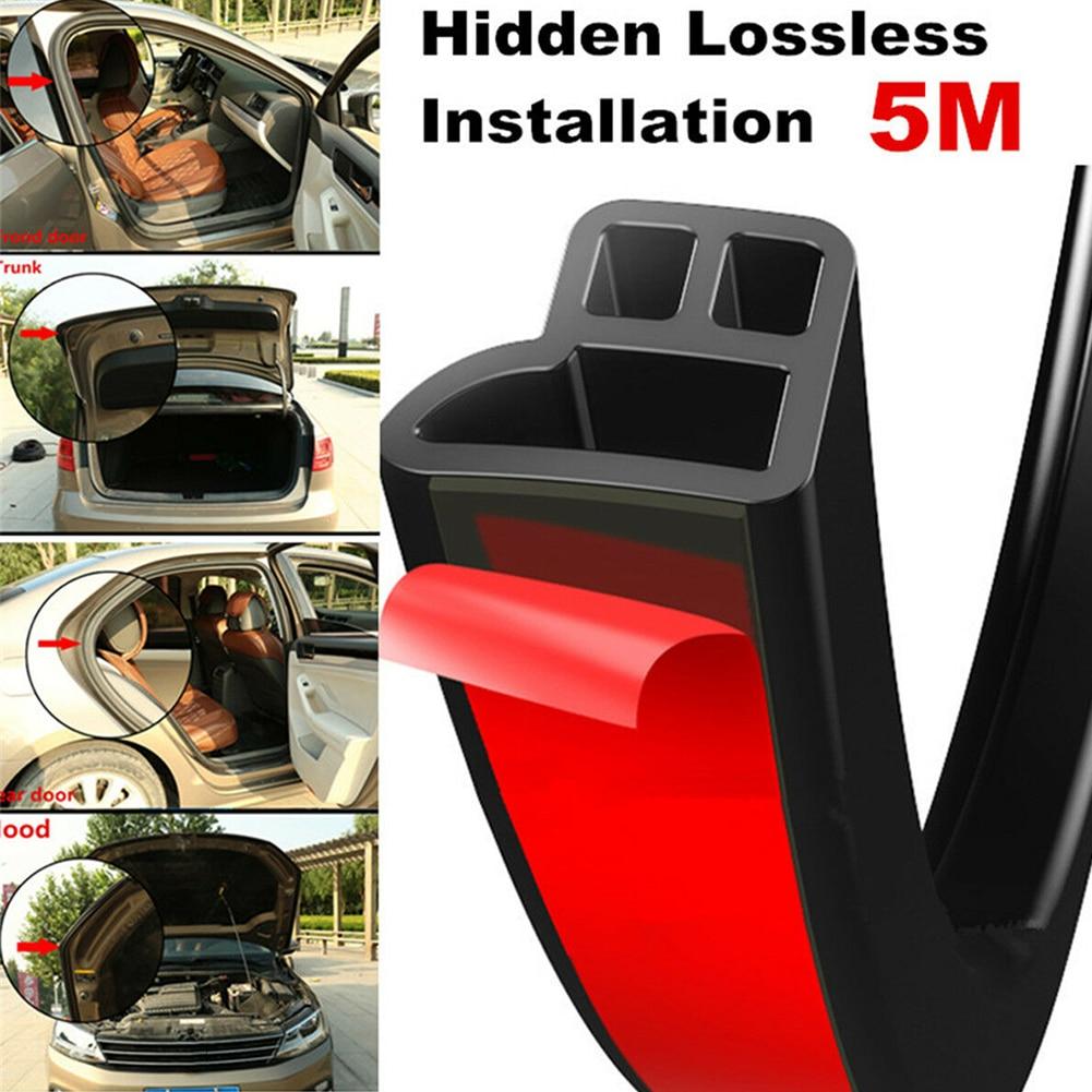 5M Scratch Proof Car Door Seal Strip High Density Styling L Shape Moulding Hood Trunk Universal Rubber Weatherstrip Trim Edge